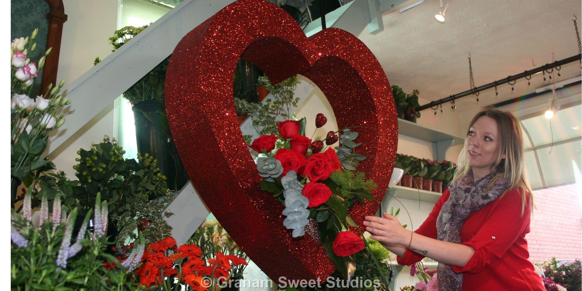 Valentine Heart VM Display Shelves From Polystyrene