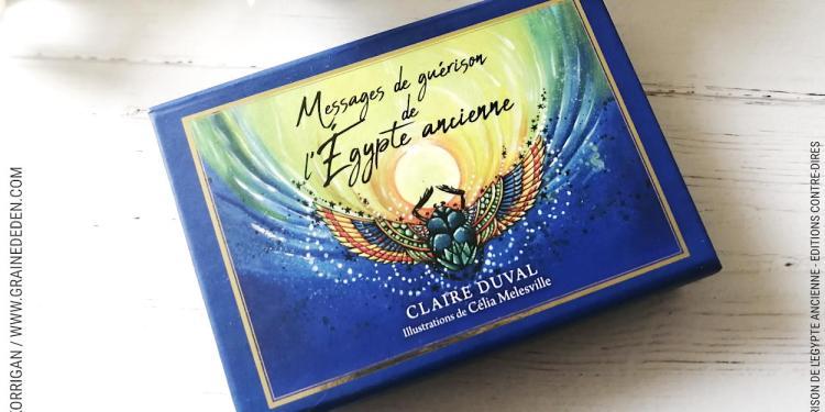 Messages de Guérison de l'Egypte ancienne cartes Oracle de Claire Duval
