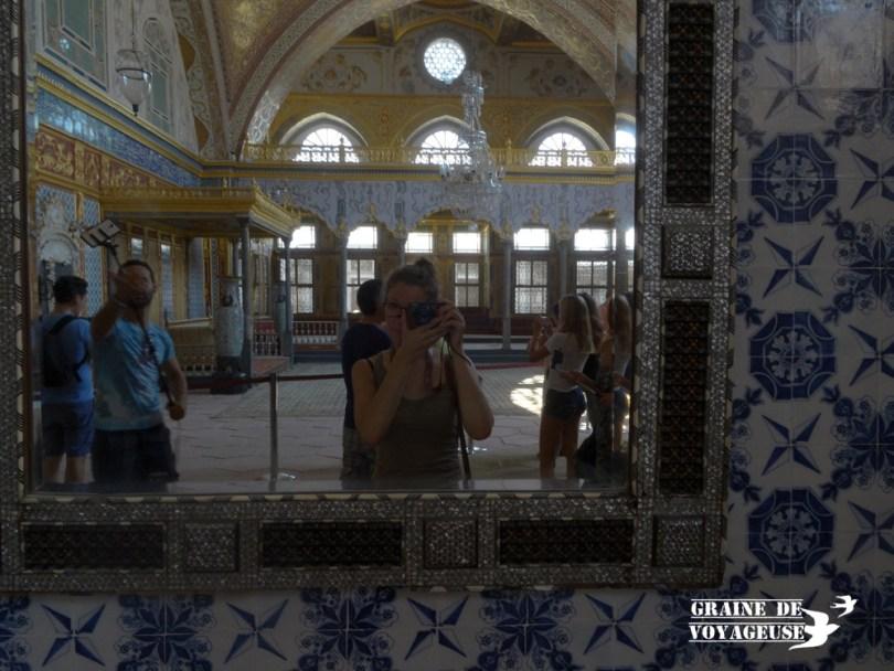 Graine de voyageuse au palais de Topkapi Istanbul