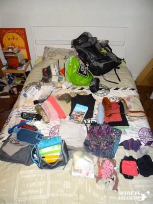 remplir son sac de voyage