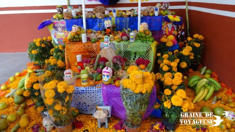 autel offrandes dia de los muertos