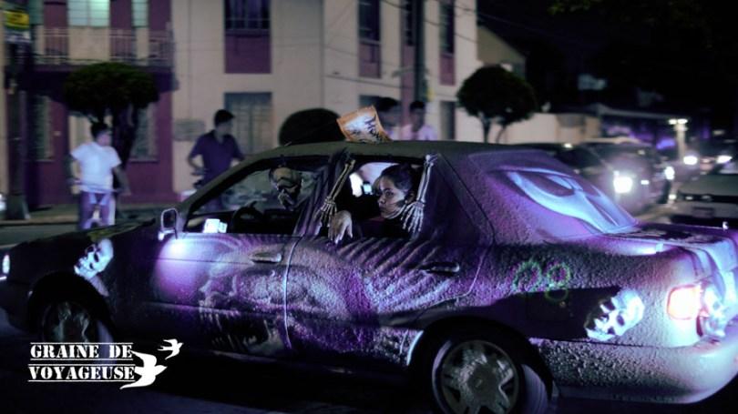 voitures dia de los muertos mexico df