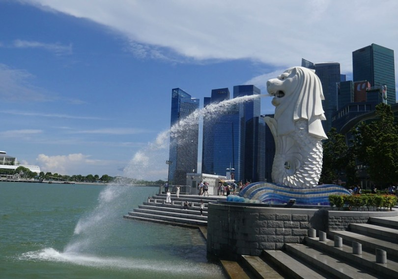 Singapour Merlion Marina Bay