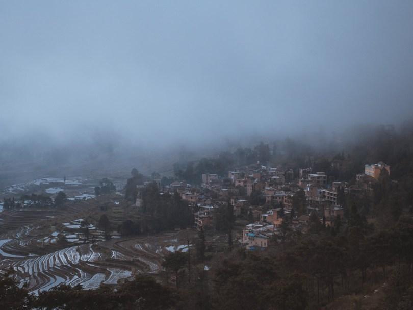Les rizières en terrasses de Yuanyang, un panorama Point de vue Duoyishu spectaculaire