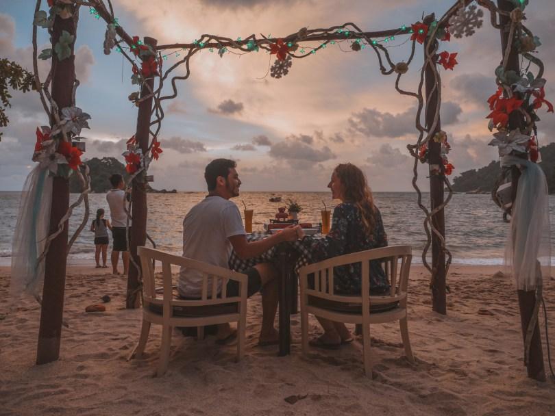 Dîner Noël plage Pangkor Nipah Deli