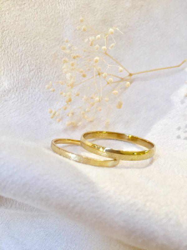 alliances mariages pacs duo sablé satiné