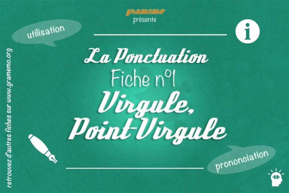 054 Ponctuation Virgule Point Virgule
