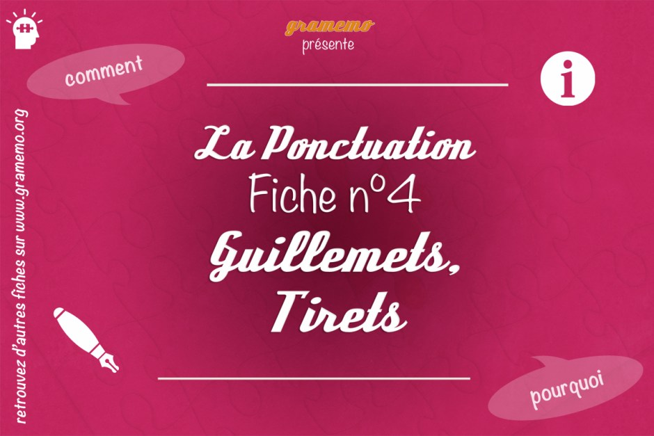 058 Ponctuation Guillemets Tirets
