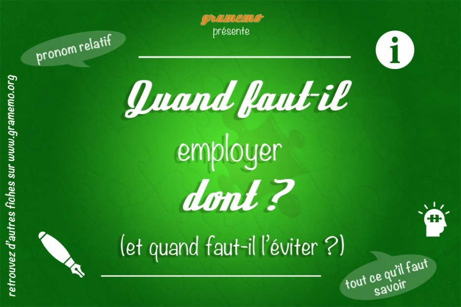074 Quand employer dont