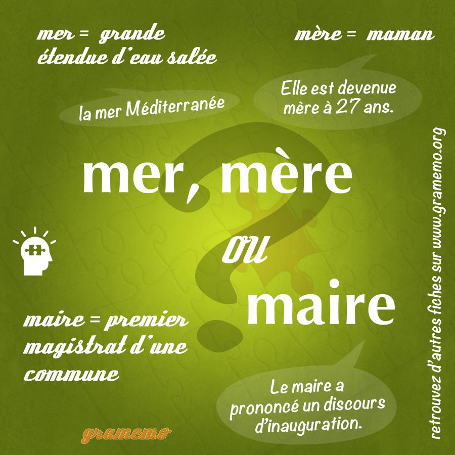 Mer, mère ou maire - Gramemo