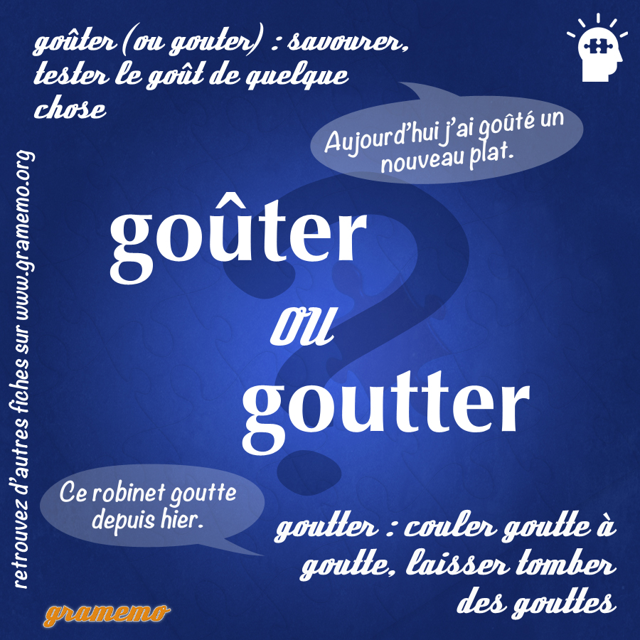 093 Gouter ou goutter