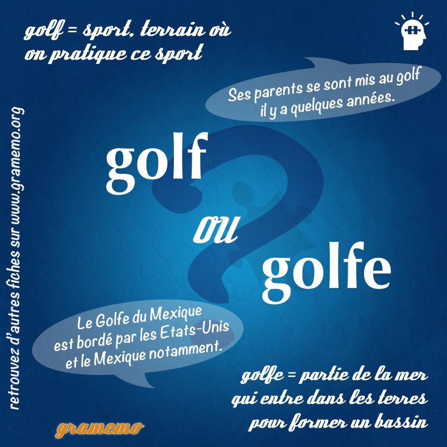 Golf ou golfe - Gramemo