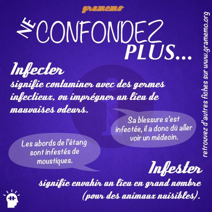 Infecter et infester - Homophones Gramemo