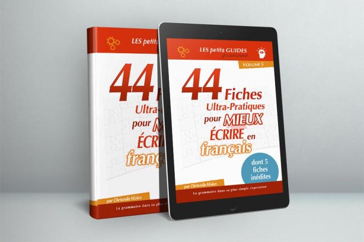 Gramemo - Livre - 44 fiches ultra-pratiques pour mieux écrire en français