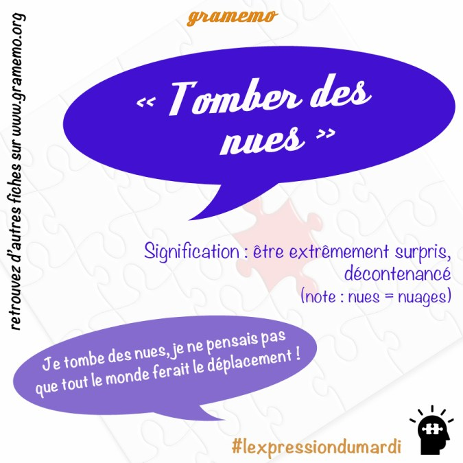 Tomber des nues - Expressions Gramemo