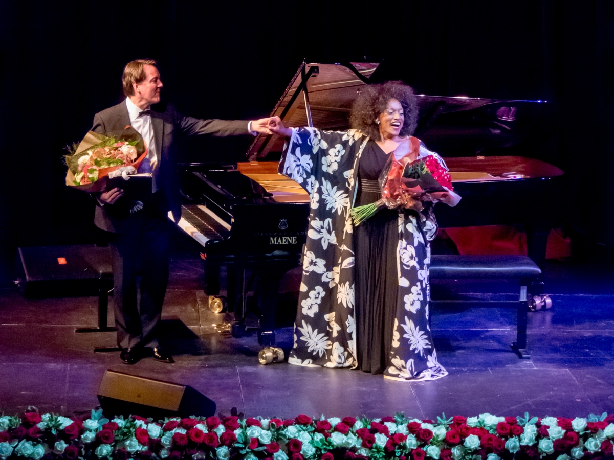 Jessye Norman with pianist Mark Markham in Ghent, 2012, photo by Graham Spicer