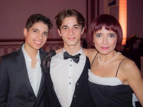 Teacher Emanuela Tagliavia with students Pierpaolo D'Amico & Oliviero Bifulco