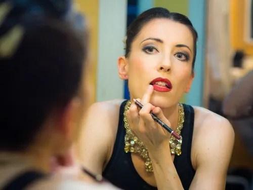 Mara Galeazzi prepares for her last show