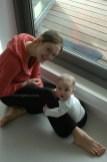 Jurgita Dronina with her son Damian Ulysses