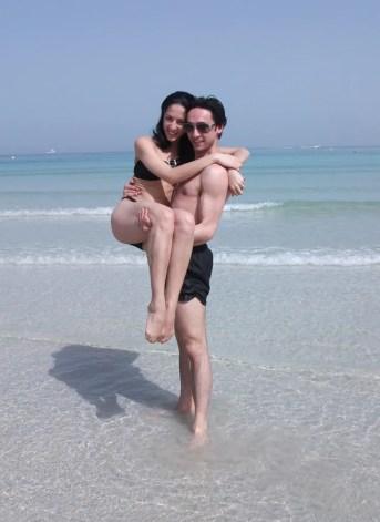 Vittorio Galloro and Arianne Lafita, Dubai 2013