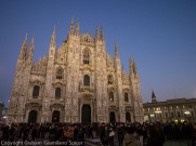 Dusk on Milan's Duomo shortly before curtain up