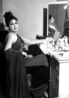 Maria Callas preparing for Alceste - Teatro alla Scala, 1953