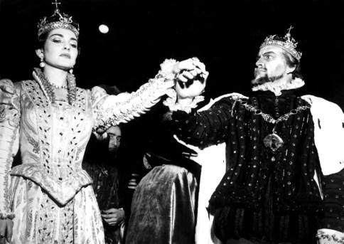 Maria Callas with Nicola Rossi Lemeni in Don Carlo - Teatro alla Scala, 1953