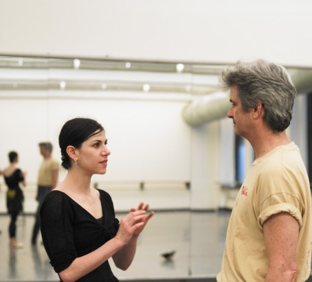 ABT Artistic Director Kevin McKenzie with Paloma Herrera in rehearsal
