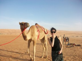 Paloma Herrera in the desert in Muscat (Oman) for ABT performances at The Royal Opera House Mouscat, 2011