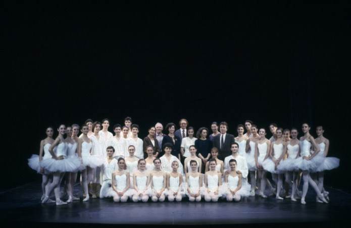 Anna Maria Prina and students of the La Scala Ballet School in 1992