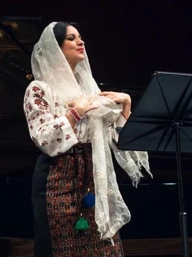 Angela Gheorghiu in Traditional Romanian Dress