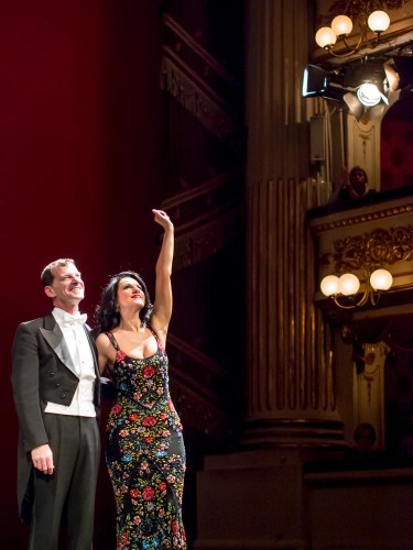 Angela Gheorghiu with Jeff Cohen at La Scala