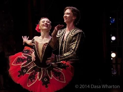 Daria Klimentová with Vadim Muntagirov, Don Quixote, Prague 2014 - photo Dasa Wharton