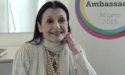 Ambassador Expo Milano 2015 Carla Fracci
