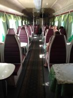 Dining Car on train from Sochi to Krasnodar