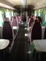 Dining Car on train from Sochi to Krasnodar
