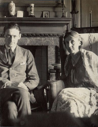 T.S. Eliot and Virginia Woolf by Lady Ottoline Morrell, June 1924 - Copyright: National Portrait Gallery, London