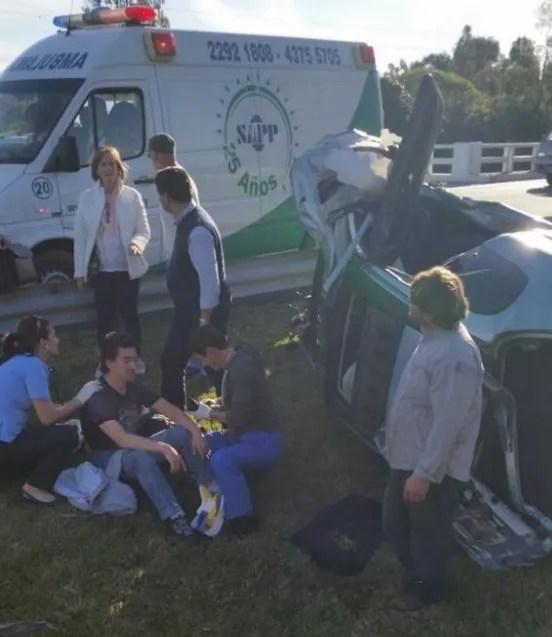 Julio Bocca receiving medical treatment