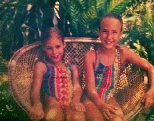 Bridgett with her sister Rachel