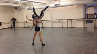 James Whiteside Misty Copeland Rehearsing With A Chance of Rain, 2014