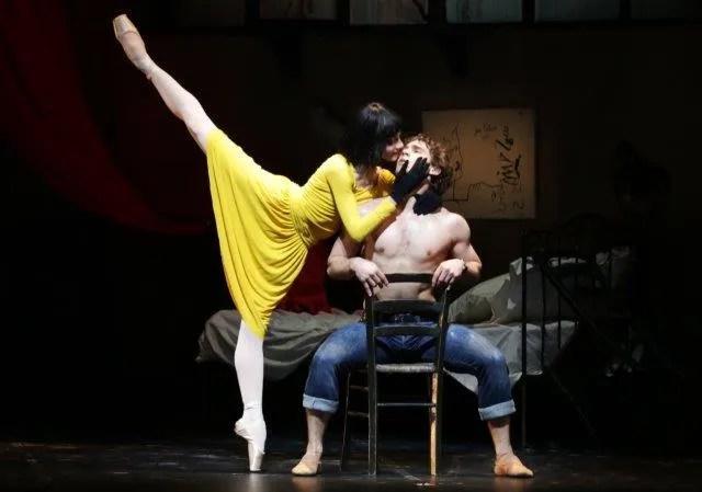 Nicoletta Manni and Ivan Vasiliev in Le Jeune homme et la Mort - photo by Brescia-Amisano, Teatro alla Scala