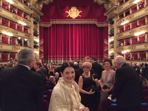 Carla Fracci at La Scala for Fidelio 7 December, 2014