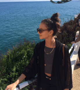 Francesca holidaying in Madeira