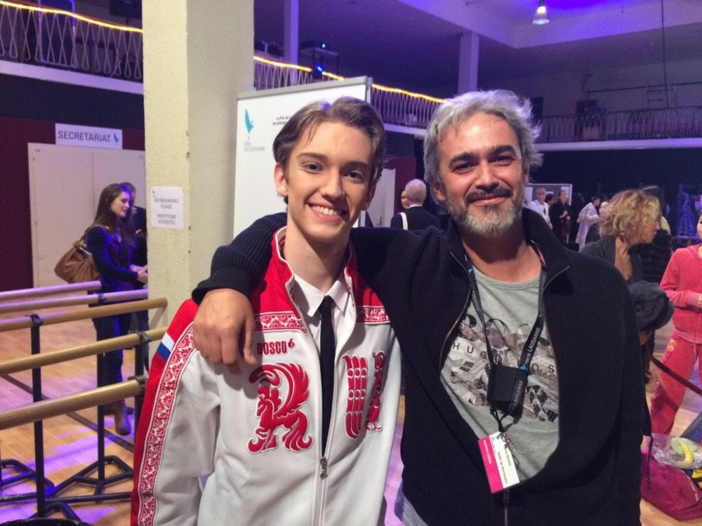 Julian Mackay with Luca Masala, director of the Princesse Grace Academy
