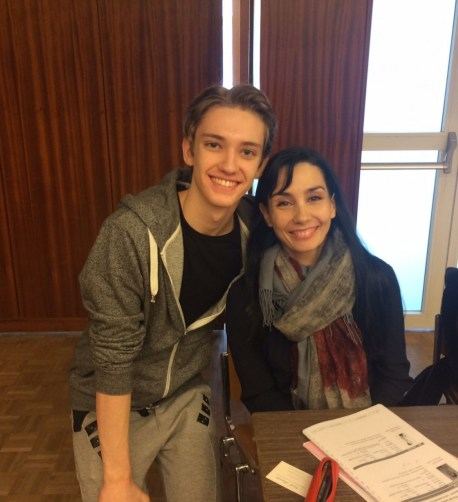 Julian Mackay with Tamara Rojo