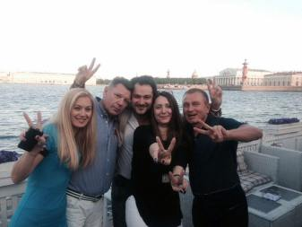 Barbara with Russian friends in St Petersburg