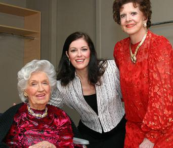 Jennifer Larmore with Rise Stevens and Anna Moffo