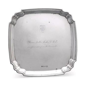 Sotheby's Australia - Dame Nellie Melba silver tray