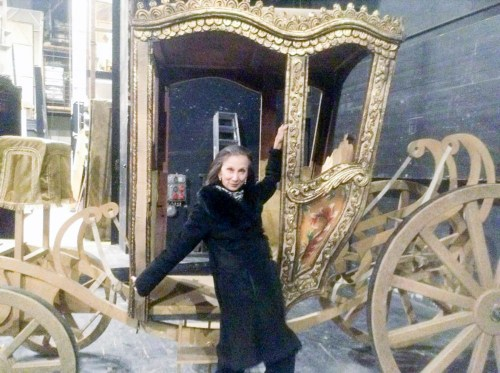 Fooling around in the Manon coach in Budapest 2015, Hungarian National Ballet