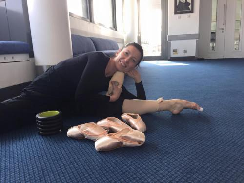 Mara Galeazzi - happily reunited with her pointe shoes
